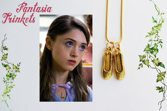 Nancy Wheeler's Golden Ballet Slippers Charm Pendant Necklace - Accurate Version - Stranger Things Jewelry