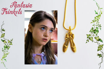 Nancy Wheeler's Golden Ballet Slippers Charm Pendant Necklace - Stranger Things Jewelry