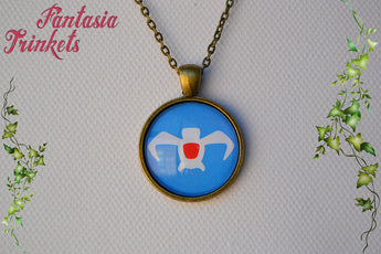 Nausicaa of the Valley of the Wind Symbol Photo Glass Pendant Necklace