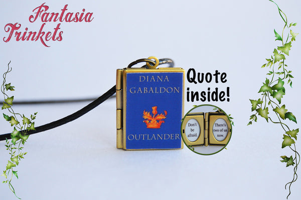 Outlander Book Locket (quote inside) Charm Keychain Brooch Ring Bracelet Pendant Necklace