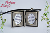 Pride and Prejudice Miniature Book Locket (quote inside) Charm, Keychain or Pendant Necklace