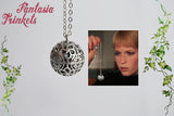 Rosemary's Baby inspired Tannis Root Charm Pendant Necklace - Rosemary Woodhouse's Demonic Amulet Replica (Chime Ball Version)