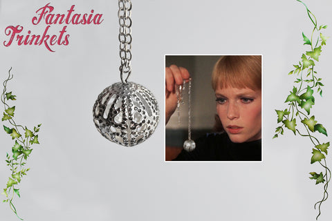 Rosemary's Baby Tannis Root Charm Pendant Necklace - Demonic Amulet Replica (Small Version)