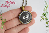"Black Sootball ""Susuwatari"" Dust Bunny Photo Glass Pendant Necklace - Ghibli Totoro Jewelry"