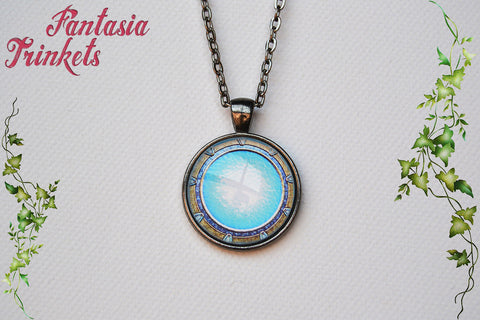 Stargate Portal Photo Glass Pendant Necklace - 4 finishes to choose - Sci-Fi Jewelry