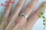 Solid 925 Sterling Silver Cat Ears and Paws Ring - Adjustable - Cat Lover Jewelry