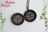 Targaryen Locket (Daenerys quote inside) Red Three-Headed Dragon Pendant Necklace - Game of Thrones Jewelry