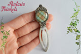 Clan Fraser Tartan Silver Bookmark - Book Lover Gift - Outlander inspired