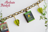 Tolkien's The Lord of the Rings Trilogy Miniature Book Locket (quotes inside) Charm Bracelet