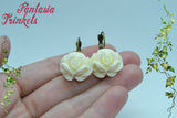 White Roses of Scotland Ring & Earrings - Jacobite Bronze Tone Brass Set - Outlander Jewelry