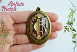 Hotel Cortez Logo Photo Glass Cameo Pendant Necklace - American Horror Story inspired