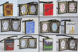 Any 3 Book Lockets 15% off - Bundle Offer - Miniature Book Lockets (quote inside) Charm Pendant Necklace Keyring