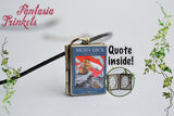 Moby Dick Miniature Book Locket (quote inside) Charm, Keychain or Pendant Necklace