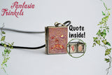Necronomicon Ex Mortis - Miniature Book of the Dead Locket (illustration and quote inside) Charm, Keychain or Pendant Necklace