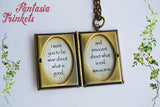 Bible Miniature Book Locket (custom verse inside) Charm, Keychain or Pendant Necklace