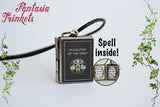 Invocation of the Spirit Book Locket (spell inside) Charm, Keychain or Pendant Necklace - Pagan Witchcraft Wiccan Spell - The Craft inspired