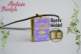 Little Women Miniature Book Locket (quote inside) Charm, Keychain or Pendant Necklace