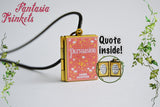 Jane Austen's Persuasion Miniature Book Locket (quote inside) Charm, Keychain or Pendant Necklace