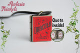Dracula Miniature Book Locket (quote inside) Charm, Keychain or Pendant Necklace