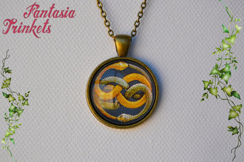 Auryn Photo Glass Pendant Necklace - Neverending Story Jewelry
