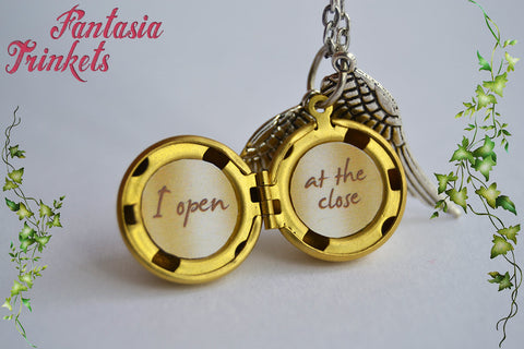 Golden snitch locket personalized text inside with silver wings golden snitch locket personalized text inside with silver wings charm keychain or aloadofball Image collections