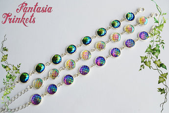 Iridescent Mermaid Scales Bracelet - 3 different colors - Fantasy Jewelry