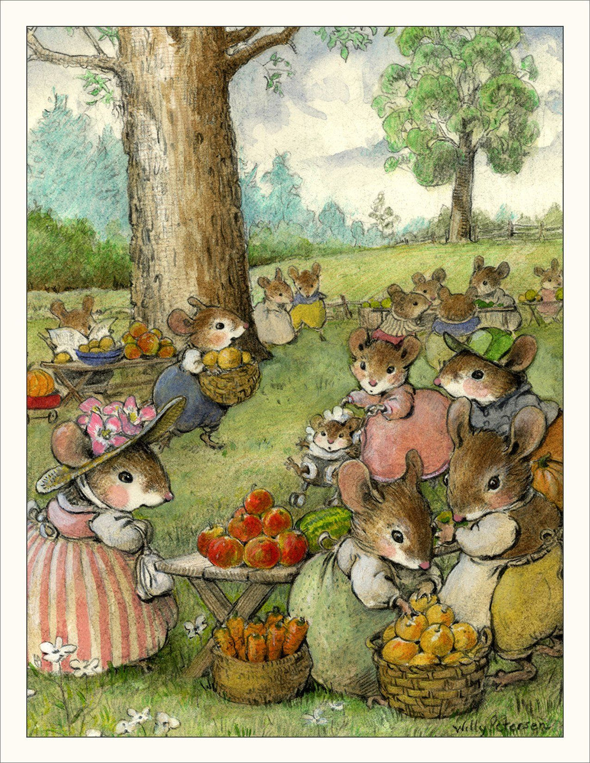 Apple Picking Note Card