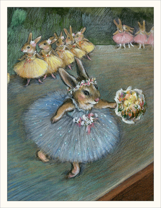 Bunny Illustration based on Degas Ballerina