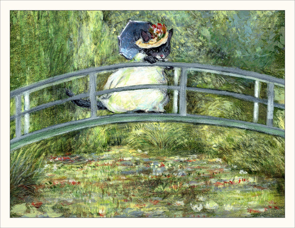 Monet Kitty Note Card