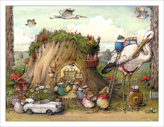 Mousey Market Note Card