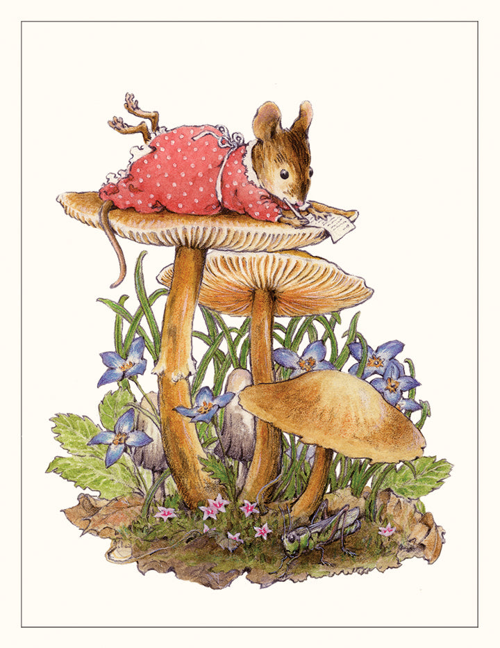 Mouse on a Mushroom Note Card