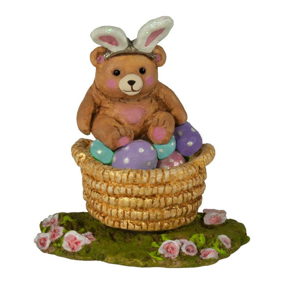 Bear in Basket Easter Accessory