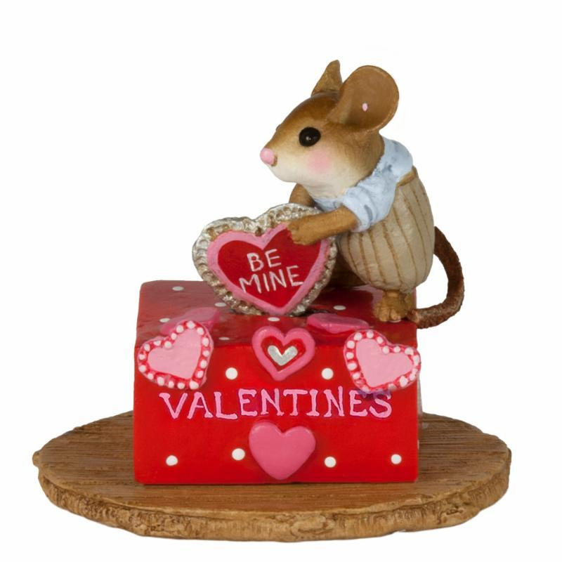 Boy Mouse Adding His Valentine to the Box