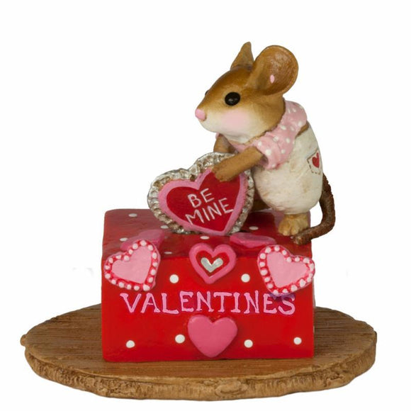 Girl Mouse Putting a Valentine in a Box