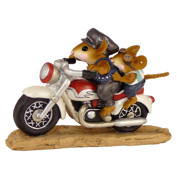 Motorcyle Riding Mouse with Son