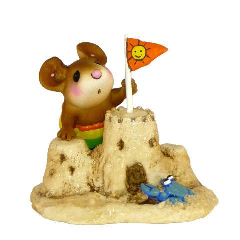Mouse Building a Sandcastle
