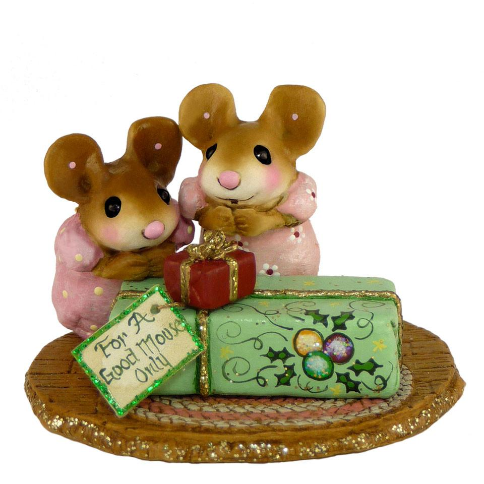 Mice Excited to Open Their Christmas Present