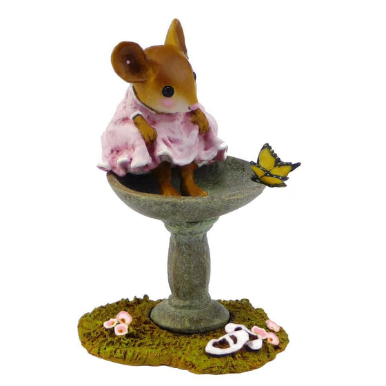 Mouse Dipping Her Toes in a Bird Bath