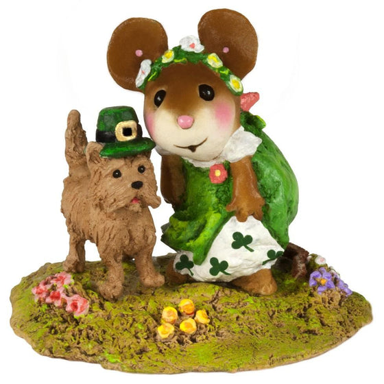 St. Patrick's Day Mouse with her Dog