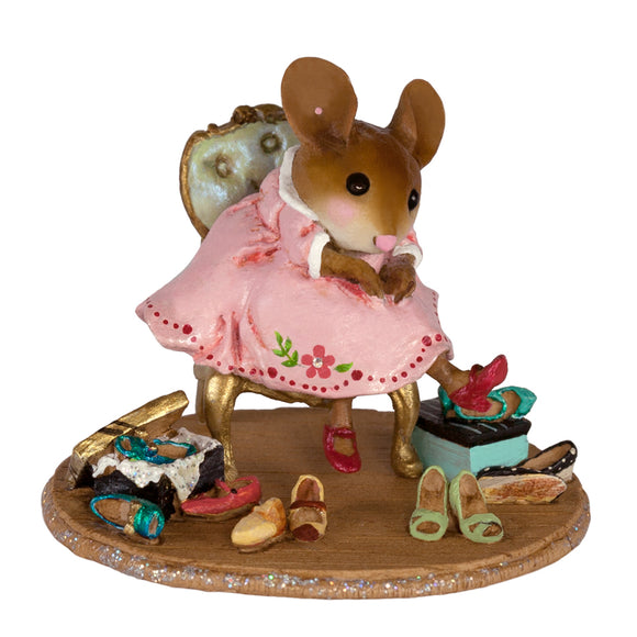 Mouse Trying on New Shoes
