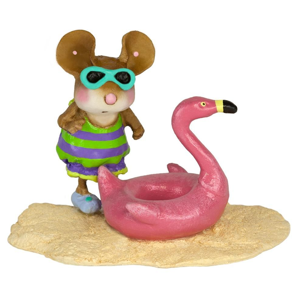 Flamingo Floatie Figurine