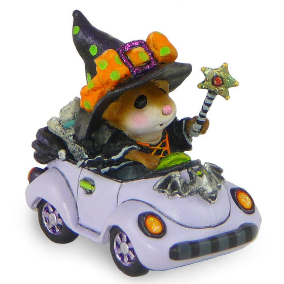 Mouse Driving in a Car for Halloween