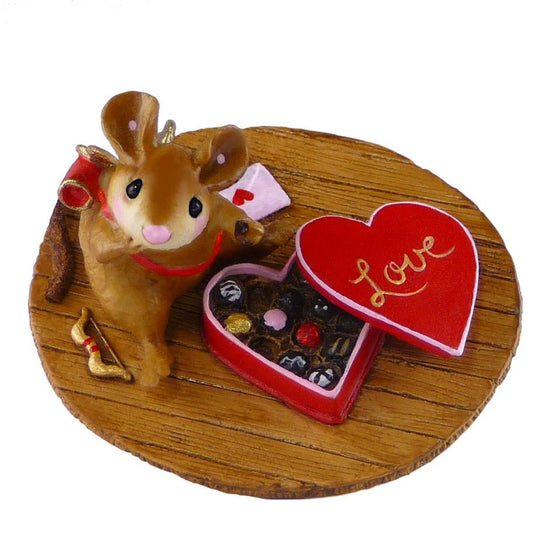 Cupid Mouse with Box of Chocolates