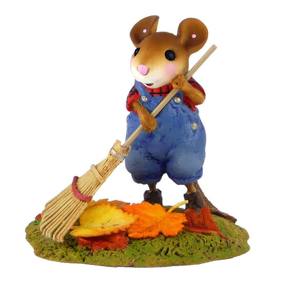 Mouse Raking Leaves