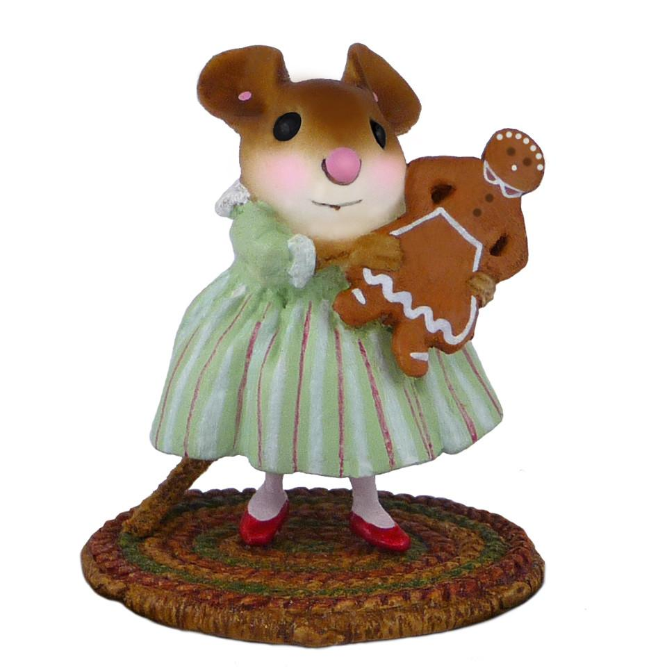Mouse Holding Gingerbread Girl