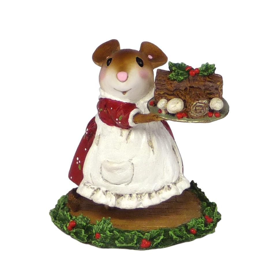 Christmas Yule Log Mouse