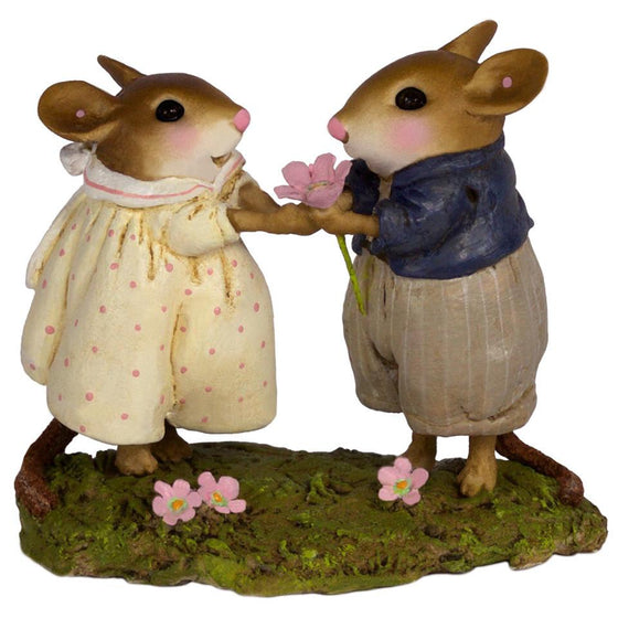 Mouse Giving a Flower to His Girl