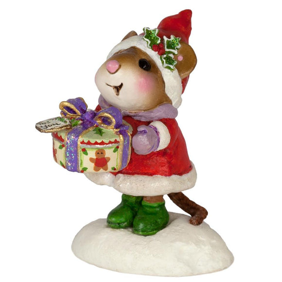 Mouse with Christmas Cookies Gift
