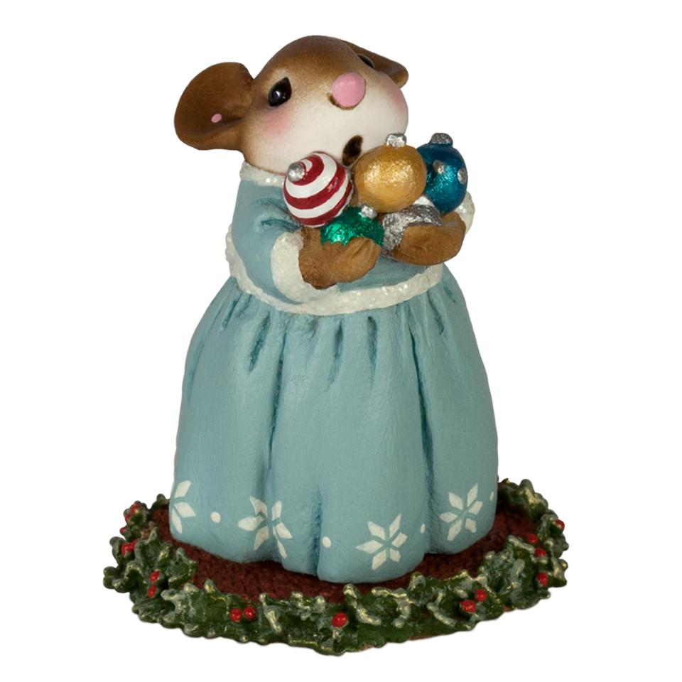 Mouse Carrying Christmas Ornaments