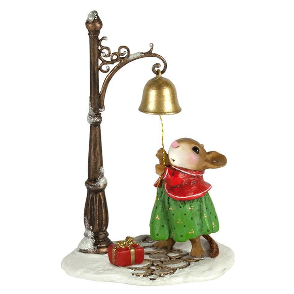 Mouse Ringing Christmas Bell